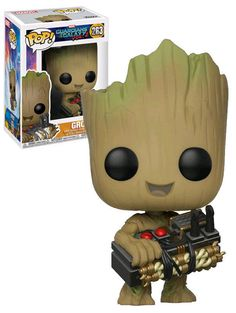 Funko POP! Marvel Guardians Of The Galaxy Vol. 2 #263 Groot Holding Bomb #Funko #FunkoPop #Marvel #GuardiansOfTheGalaxy #Groot #Collectibles