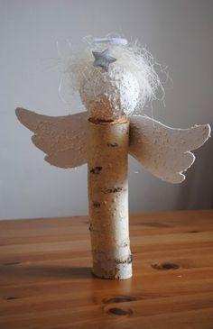 Christmas Angel Ornaments, Silver Christmas Decorations, Rustic Christmas, Handmade Christmas, Christmas Time, Holiday, Angel Crafts, Diy And Crafts, Christmas Crafts