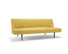 Cute Unfurl Sofa Bed in Soft Mustard Flower by Innovation
