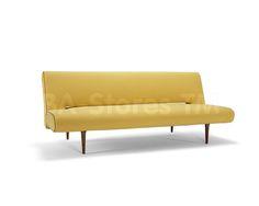 Unfurl Sofa Bed in Soft Mustard Flower by Innovation