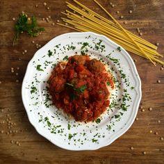 The Tasty K | Lentil 'Meat' Balls | http://thetastyk.com