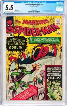 Silver Age (1956-1969):Superhero, The Amazing Spider-Man #14 (Marvel, 1964) CGC FN- 5.5 Off-white towhite pages....