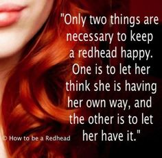Redhead Quotes, Redheads Quotes