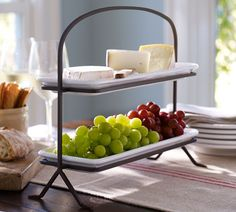 Thanksgiving tabletop: Ceramic and iron stand