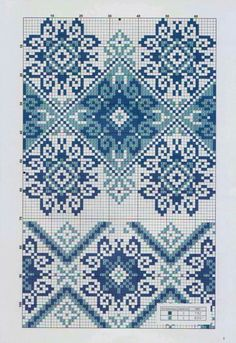 Blue Designs, cross stitch pattern