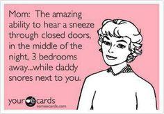 That uncanny ability Moms have ;-) http://www.KidzCentralStation.com/ #humor #parents #moms #dads