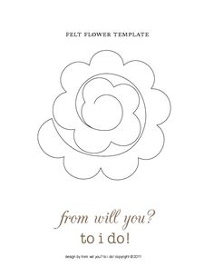 felt or paper flower template Felt Flower Template, Felt Flower Tutorial, Felt Templates, Flower Svg, Flower Crafts, Applique Templates, Applique Patterns, Card Templates, Handmade Flowers