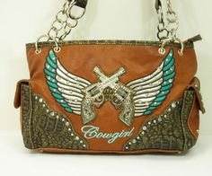 HL1041BROWN - RHINESTONE HANDBAG
