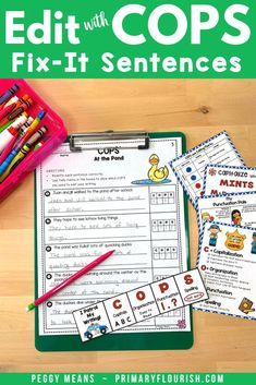 Wouldn't it be great if your students remembered to add capital letters at the beginning of their sentences and punctuation at the end?  COPS will help them do that! Edit Writing with COPS is an engaging, effective way for students to remember how to edit their own writing! These NO PREP Spring-themed stories have three options to allow you to easily differentiate for your students. Perfect for first, second, third grade students. #editwithCOPS Teaching Paragraphs, Paragraph Writing, Teaching Grammar, Teaching Social Studies, Teaching Writing, Editing Writing, Writing Lessons, Writing Resources, Writing Activities