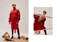 """After his graduation, Shimo Zhou established a menswear brand """"Staffonly"""" with designer Une Yea. Theirnew collection is called """"I wish I could keep you longer"""". Photos: Zee Hair & Make-up: Jeffrey Model: Quinto"""
