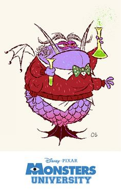 Amazing Monsters University Concept Art by Pixarian Chris Sasaki Disney Monsters, Cartoon Monsters, Monsters Inc, Cartoon Characters, Animation Disney, Animation Film, Animation Studios, Monster University, Creature Feature