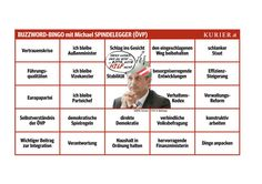Bingo für das Sommergespräch mit Michael Spindelegger (2012)