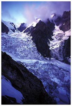 Mont Blanc 4807 m., Italy, Aosta province , region Valle d'Aosta