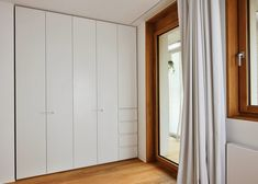 Home & Apartment, Inspiring Modern Interor Design Ljubljana Apartment Wooden Flooring Glass Door White Wall Apartment Renovation Ideas Apart. Small Apartment Interior, Small Apartment Design, Apartment Renovation, Small Apartments, Grands Salons, White Interior Design, Inspiration Design, Design Ideas, Elegant Homes