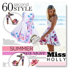 """60 Second Style: Summer Date Night"" by vanjazivadinovic ❤ liked on Polyvore featuring moda, My Delicious, Oscar de la Renta, DateNight, polyvoreeditorial, missholly y summerdatenight"