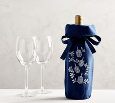 Decorated with white embroidered motifs, our Hanukkah Wine Bag is a festive way to gift or display a fine bottle of wine or champagne. Hanukkah Lights, Hanukkah Decorations, Cloud Craft, How To Celebrate Hanukkah, Hannukah, Diy Hanukkah, Menorah, Wine Making, Fall Home Decor