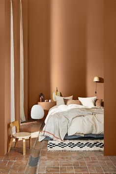 Jotun Lady, Casa Top, Best Bedroom Colors, Scandinavian Interior Design, Scandinavian Style, Scandinavian Bedroom, Nordic Design, Terracota, Wonderwall