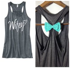 "I love all these tank tops with bows on the back <3 ""Wifey Tank Top Bride Tank Top Bride Bow Tank by BridalBlissCouture, $24.95"""