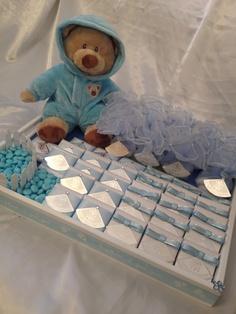 Baby boy chocolate tray