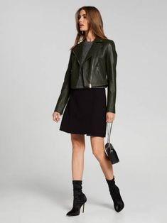 Searching for the perfect jacket to complete your outfit? Shop the latest trenches, coats, blazers and leather jackets online now at Portmans. Suede Leather, Leather Skirt, Coloured Leather Jacket, Leather Jackets Online, Puffer Jackets, Women's Jackets, Dress And Heels, Black Button, Biker