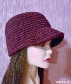 Crochet Blouse, Knit Crochet, Crochet Hats, Visor Hats, Head Accessories, Cute Hats, Free Knitting, Hats For Women, Couture