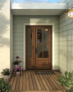 Cottage Front Doors, Porch Doors, Cottage Door, Wood Front Doors, Front Door Entrance, House Front Door, Entry Doors, Front Porch, Rustic Cottage