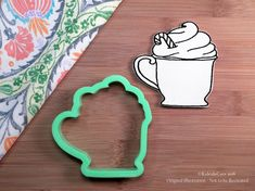 Holiday Latte Cookie Cutter. Starbucks Cookie Cutter. Latte with Whip Cream. 3D Printed. Coffee Cookie Cutter. Baking Gifts.