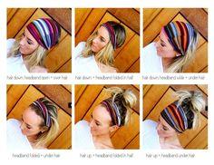 BLACK Floral Turband Headband Silky Flower Print Head Scarf Women's Hair Band Urban Turban Head Wrap Headband. $19.50, via Etsy.