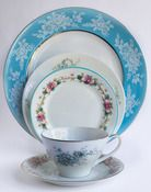 Love this site. Shop vintage dishes by color