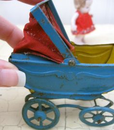 Reserved German Miniature Baby Carriage or Pram