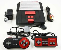 #videogames #Gamers #Hyperkin New Retron 2 Twin Super Nintendo NES SNES Game Console System Black/Red 54.95      Item specifics     Condition:        New: A brand-new, unused, unopened,...