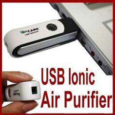 Mini USB Auto Fresh Air Purifier Ionizer Cleaner Deodorant