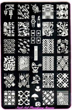 Nail Art Stamping Mania: CICI & SISI Set Jumbo 2 plate 08  http://nailartstampingmania.blogspot.it/2014/03/cici-sisi-set-jumbo-1-and-set-jumbo-2.html