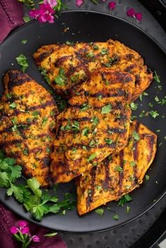 Grilled Moroccan Chicken is marinated with olive oil, lemon, fresh herbs and spices then grilled to perfection. Family friendly and perfect for weeknights. A repeat recipe! Grilled Chicken Recipes, Grilled Meat, Grilling Recipes, Cooking Recipes, Healthy Recipes, Goan Recipes, Cooking Food, Beef Recipes, Italian Recipes