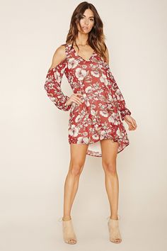 Contemporary Floral Print Dress | Forever 21 - 2000200228