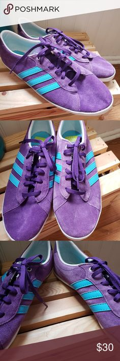 quality design 6af20 e31ed ADIDAS Neo Label Purple Blue Stripe Tennis Shoes Great condition Women s  Size 10 adidas Shoes Athletic