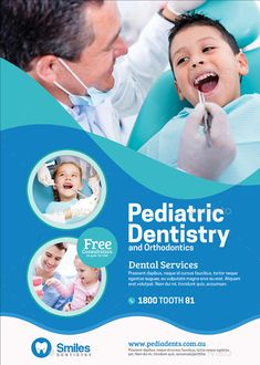 Buy Pediatric Dentistry Flyer by Artchery on GraphicRiver. Pediatric Dentistry Flyer Design Template Boost your company's sales and attract new customers! Dental Design, Medical Design, Social Media Poster, Social Media Design, Banner Design Inspiration, Medical Brochure, Best Landing Pages, Medical Posters, Dental Kids