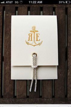 Nautical wedding invite, gorgeous