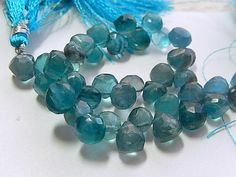BLUE FLUORITE Gemstone. Faceted Onion  7 to 7.5mm.  by LuxBeads