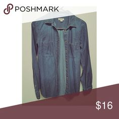 Denim Shirt NWOT Denim Shirt  If you like the item but not the price please make an offer by clicking the button below, Thank you 💕🚫NO TRADES🚫 Tops
