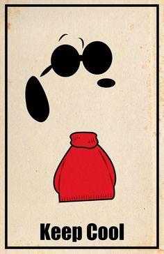 'Keep Cool', Joe Cool that is, Snoopy.