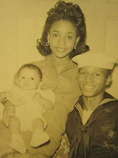 VINTAGE AFRICAN AMERICAN BEAUTY NEW FAMILY BABY NAVY RAY ALLEN LOOKALIKE PHOTO