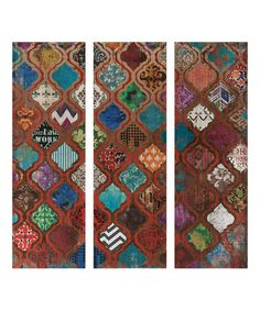 Love this McBride Geometric Triptych Wall Art - Set of Three by IMAX on #zulily! #zulilyfinds