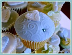 Embossed Wedding Cupcake by Scrumptious Buns (Samantha), via Flickr