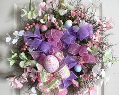 Easter Bunny Wreath Easter Basket Wreath Easter by StyletheSeasons