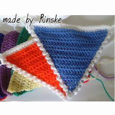 Made by Rinske: Slingers haken met een randje