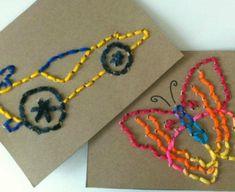 DIY Stitch Cards for Kids