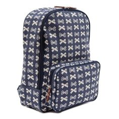 Plecak Pink Lining Cream Bows on Navy Cute Diaper Bags, Go Pink, Vera Bradley Backpack, Navy, Cool Stuff, Lust, Fashion, Hale Navy, Moda