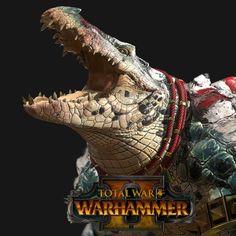 Total War: Warhammer 2 -Kroxigors, Matthew Davis on ArtStation at https://www.artstation.com/artwork/Q8qz8