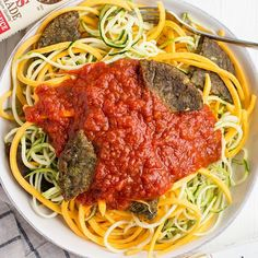 * We like our pasta how we like all our food – ALL VEGGIE. And no bowl is complete without the best toppings! This one is topped… Veggie Burgers, Bowls, Giveaway, Spaghetti, Veggies, Gluten, Vegetarian, Pasta, Good Things